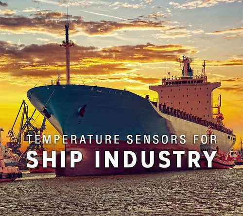 Temperature sensors for ship industry