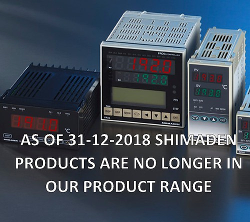 Shimaden products as of 31-12-18 no longer in our product range